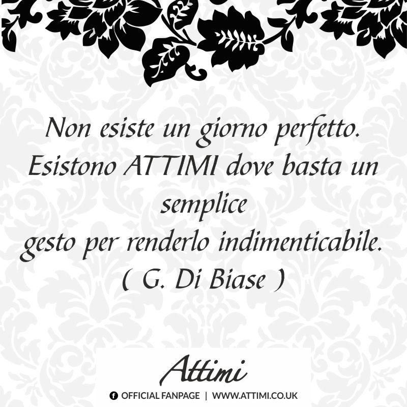 Non esiste un giorno perfetto. Esistono ATTIMI dove basta un semplice gesto per renderlo indimenticabile. (G.Di Biase)