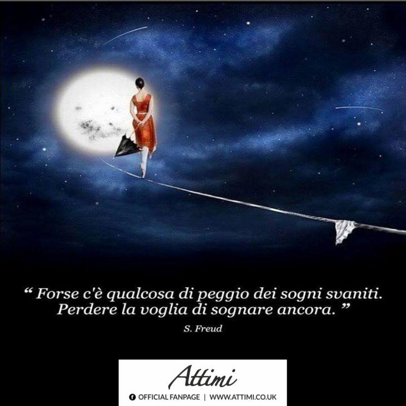 Forse c'è qualcosa di peggio dei sogni svaniti. Perdere la voglia di sognare ancora. (S. Freud)