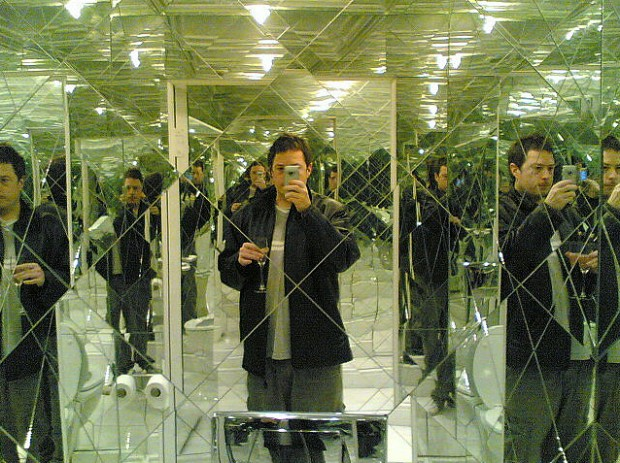 Il bagno degli specchi.