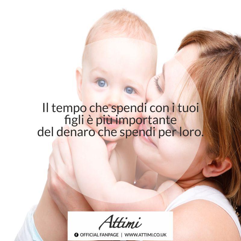 Il tempo che spendi con i tuoi figli è più importante del denaro che spendi per loro.