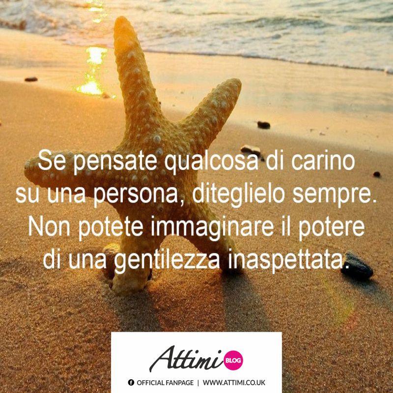 Se pensate qualcosa di carino  su una persona, diteglielo sempre. Non potete immaginare il potere di una gentilezza inaspettata.