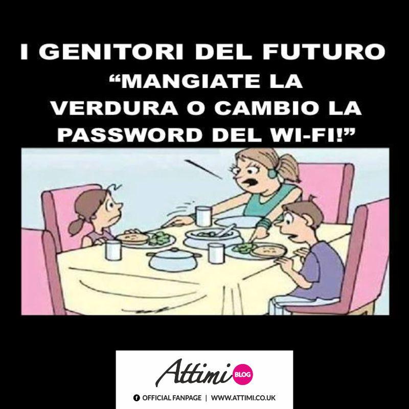 """I genitori del futuro: """"Mangiate la verdura o cambio la password del wi-fi!"""" (Web)"""