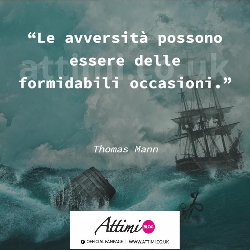 Le avversità possono essere delle formidabili occasioni. (Thomas Mann)