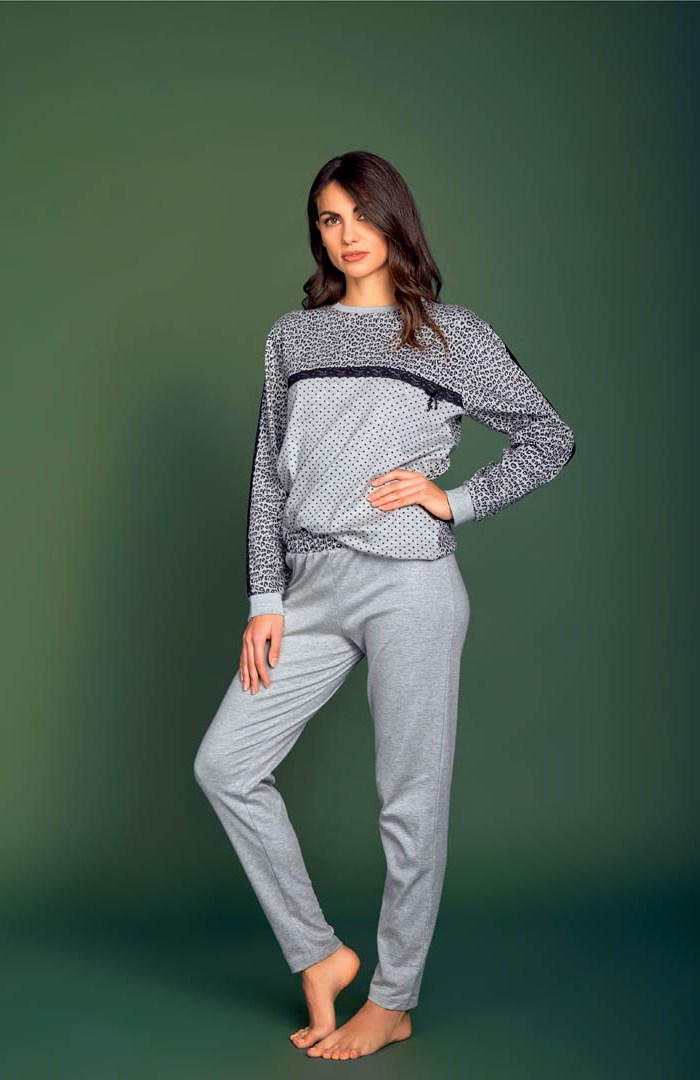 Pigiama girocollo Interlock - AT214I