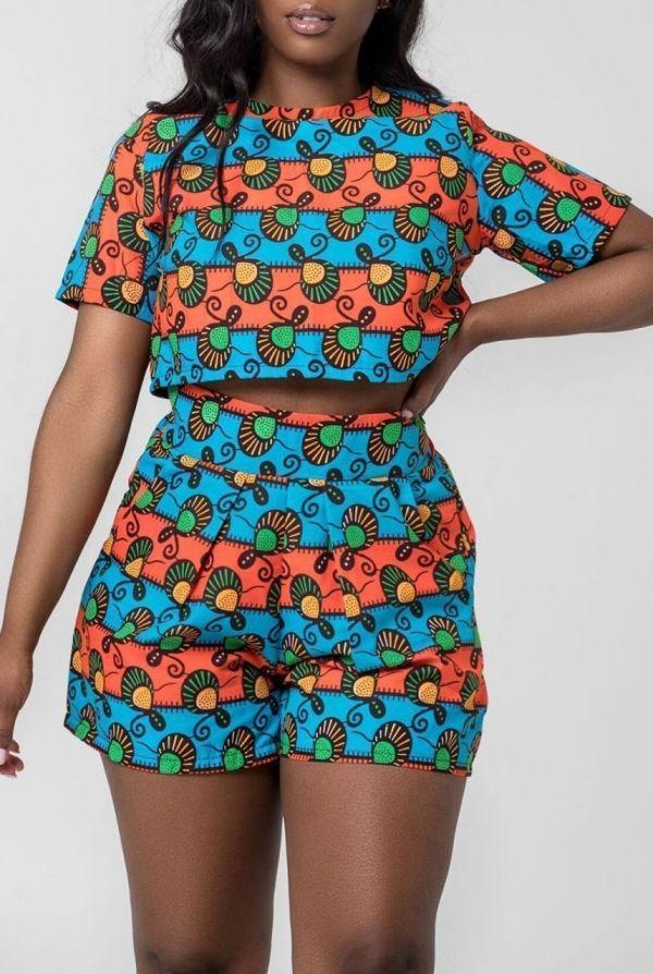 African print top