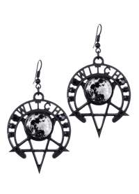 Restyle Witch Moon Gothic Earrings | Attitude Clothing