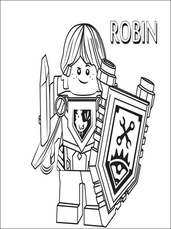 disegni da colorare di lego nexo knights