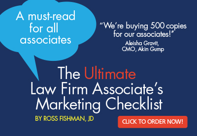 Ultimate Associate's marketing checklist ross fishman