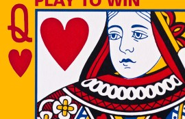 play to win legal marketing with queen of hearts card