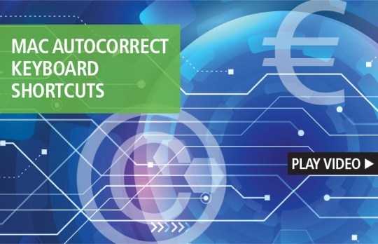 Mac autocorrect keyboard shortcuts