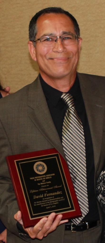 David Fernandez Hold Lifetime Achievement Award