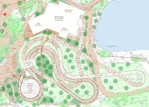 Overhead View - New Wooden Rollercoaster for Alton Towers