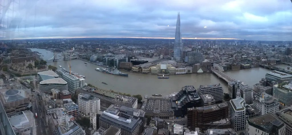 View of London from The Sky Garden