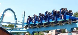 Shockwave Stand Up Roller Coaster - Drayton Manor Theme Park