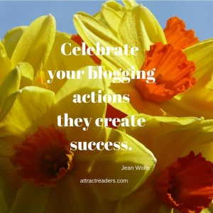 celebrate your blogging actions