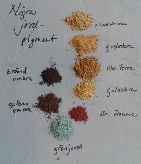 några jordpigment