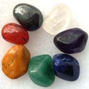 Chakra Harmony, symbolised by a range of gemstones