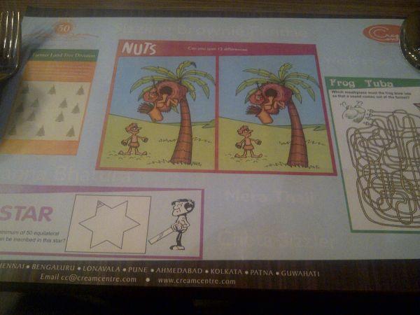 Cream Centre Puzzles