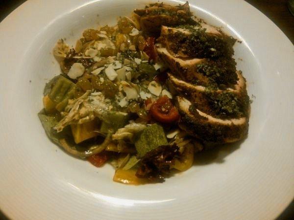 Warm Cajun Chicken Salad
