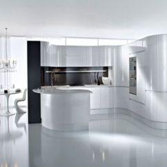 Paint Kitchen Cabinets White Elegant Curtains Valances Bck欧式简单白色弧光泽mdf油漆厨柜 出品汇