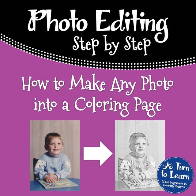 How to Make Any Picture a Coloring Page! • A Turn to Learn