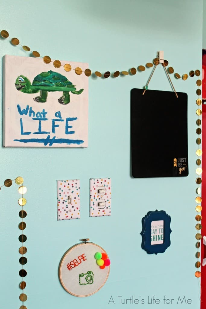 tween bedroom light switch cover gallery wall - A Turtle's Life for Me