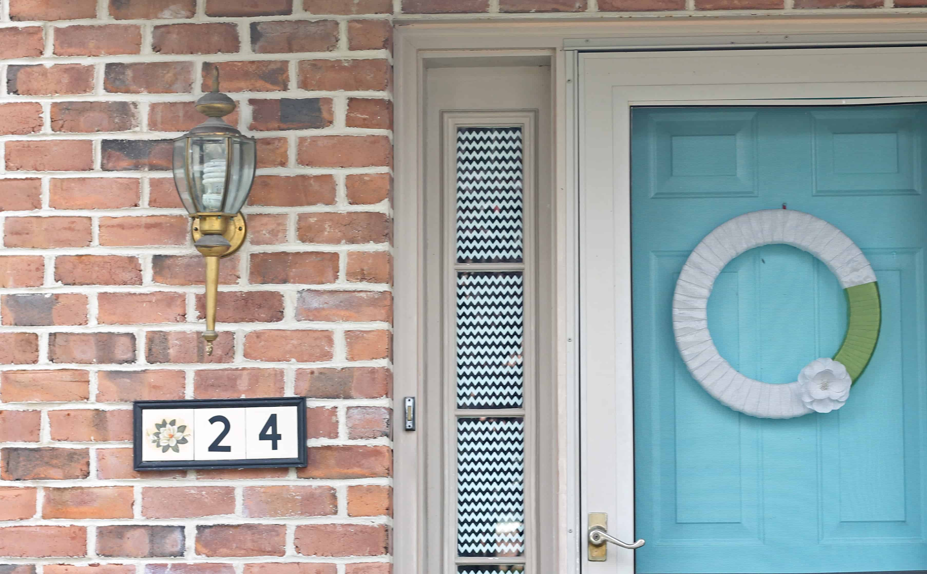 House Number Plaque  A Turtles Life for Me