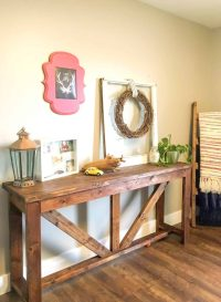 DIY Console Table out of 2x4s - A Turtle's Life for Me