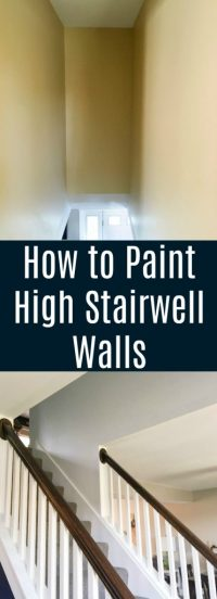 How to Paint High Walls on Stairs - A Turtle's Life for Me