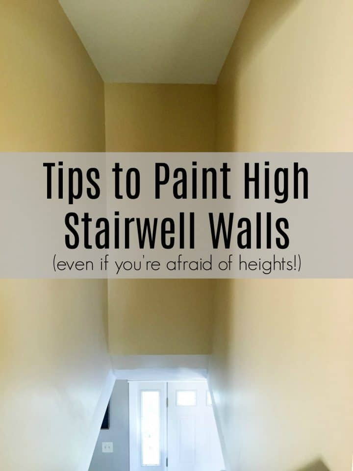How To Paint High Walls On Stairs A Turtle S Life For Me | Wall Painting Designs For Staircase | Side Wall | Upstairs | Art Staircase | Boy | Creative