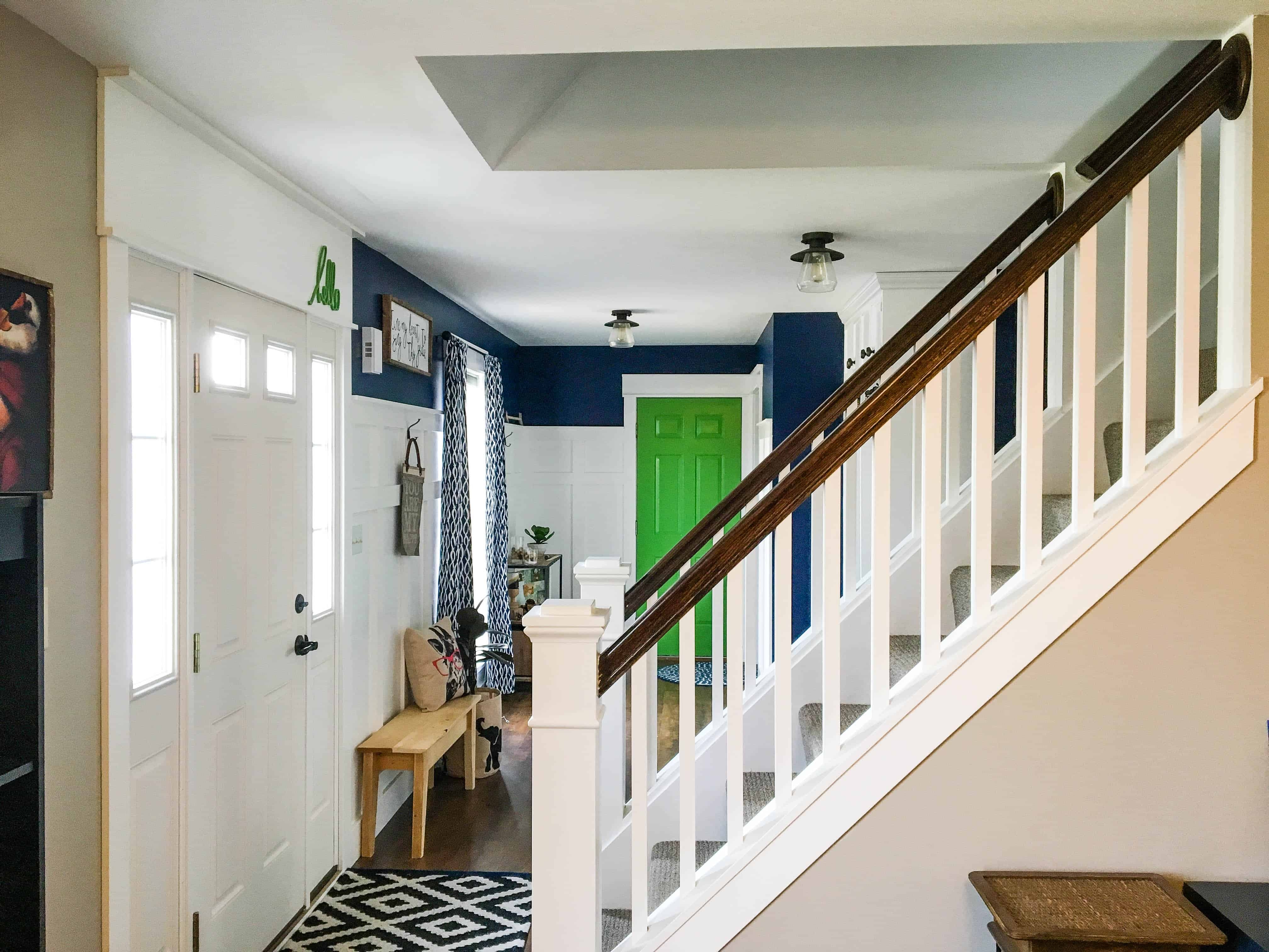 How To Open Up An Interior Staircase A Turtle S Life For Me   Designs For Staircase Wall   Partition   Classy   Attractive   Luxury   Transitional