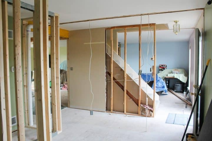 How To Open Up An Interior Staircase A Turtle S Life For Me | Stairs In Middle Of Room Interior Design | 3 Story Staircase | House | Middle Hallway | Private Home | Mixed Interior