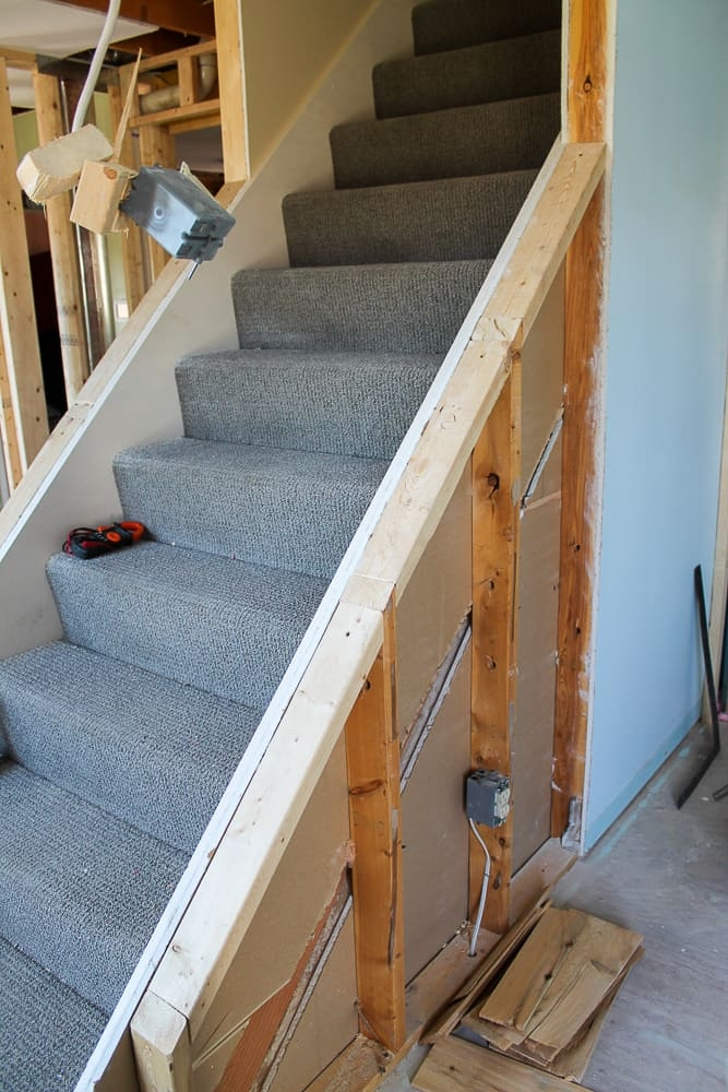 How To Open Up An Interior Staircase A Turtle S Life For Me | Cost To Add Stairs To Basement | House | Flooring | Stair Treads | Stair Case | Unfinished Basement