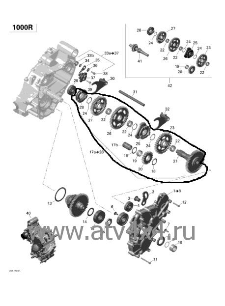 Запчасти на двигатель для квадроцикла Can-Am(BRP)