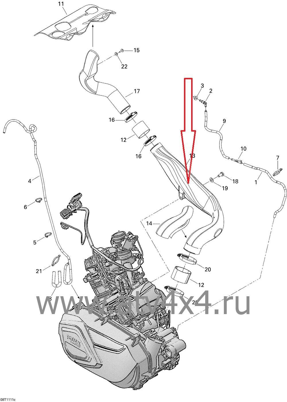 Запчасти системы охлаждения для квадроцикла Can-Am(BRP)