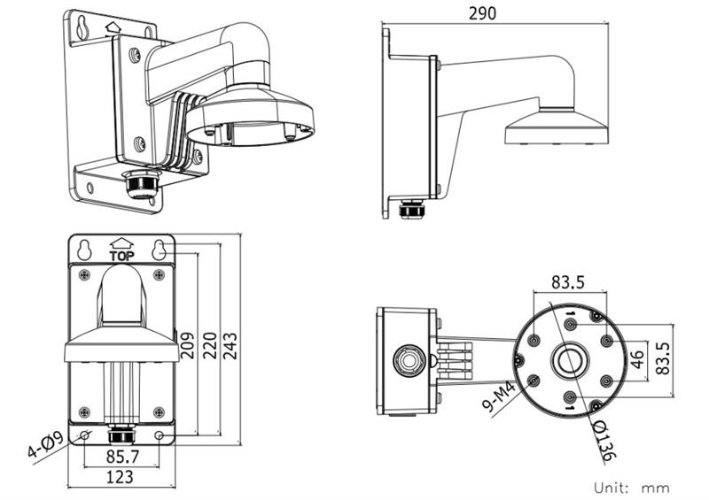 IPXWM-05, Outdoor Wall mount with Electrical Junction Box