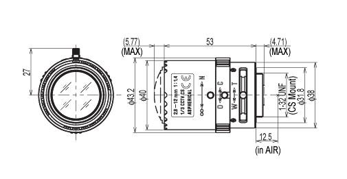 13VM2812ASII, Tamron 2.8-12mm Manual Iris Varifocal Lens