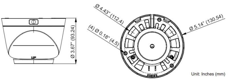 KEZ-c2TR28V12XIR, KT&C 1080P TVI HD Outdoor Turret Dome