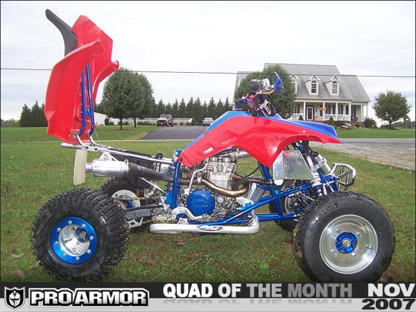 Honda Fuel Tank Filter Pro Armor S November Quad Of The Month Justin S Laeger