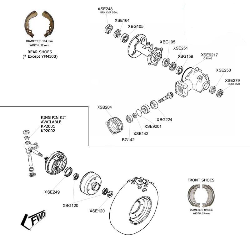 ATVWorks YFM Parts Diagram