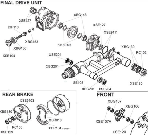 Honda TRX250EX Parts Diagram