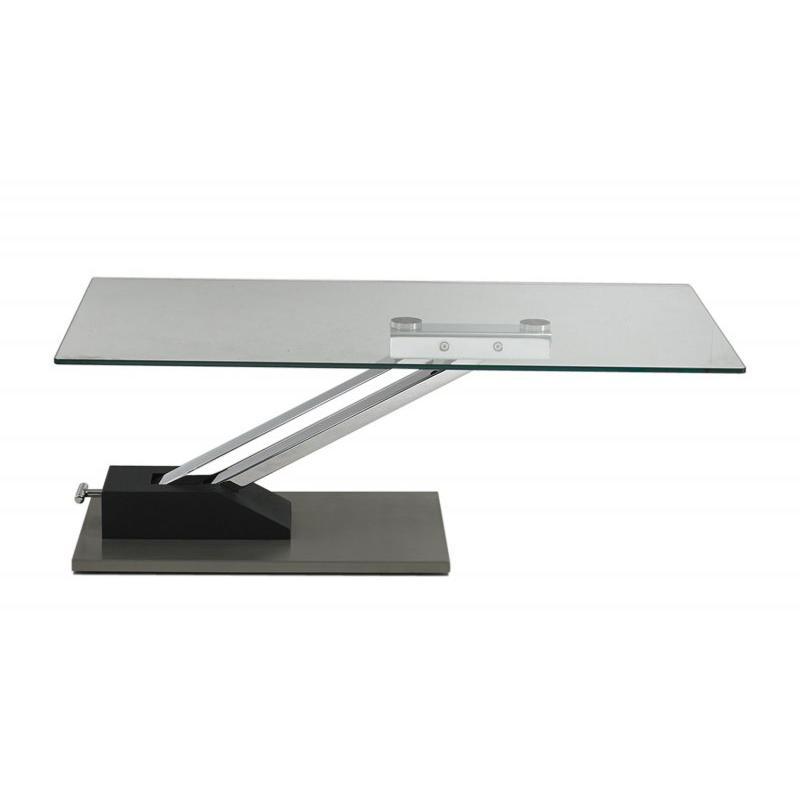 table basse en verre reglable