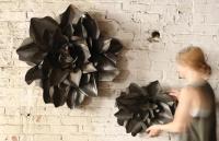 raw metal flower wall hangings | flower sculpture | metal ...