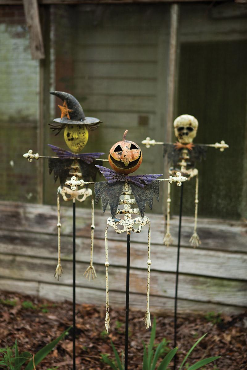 Set Of 3 Halloween Yard Stakes