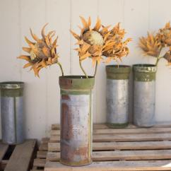 6 Piece Living Room Set Large Ideas Recycled Metal Ammunition Canister Vase