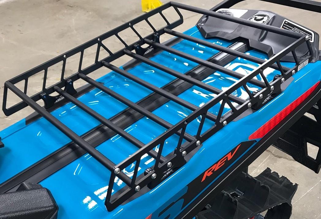ski doo linq 146 snowmobile rack luggage cargo system tunnel rack