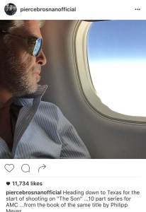 Pierce Brosnan in Austin