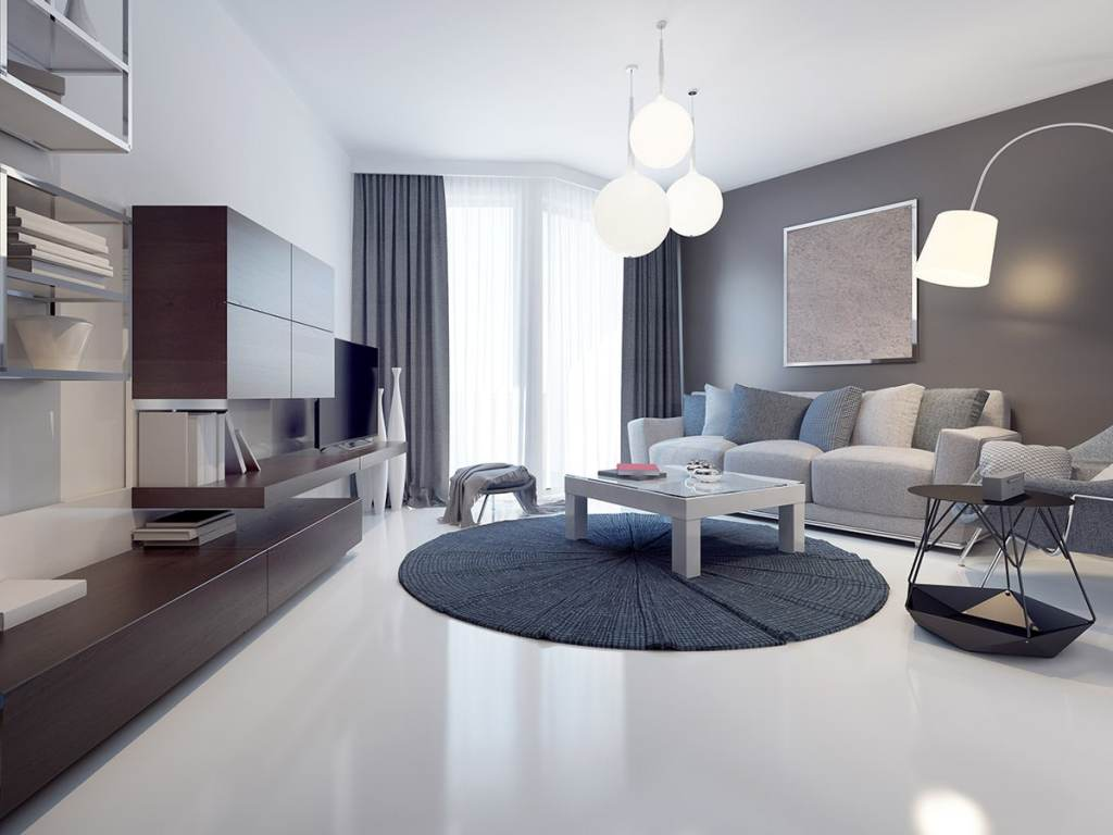 white concrete coating floor