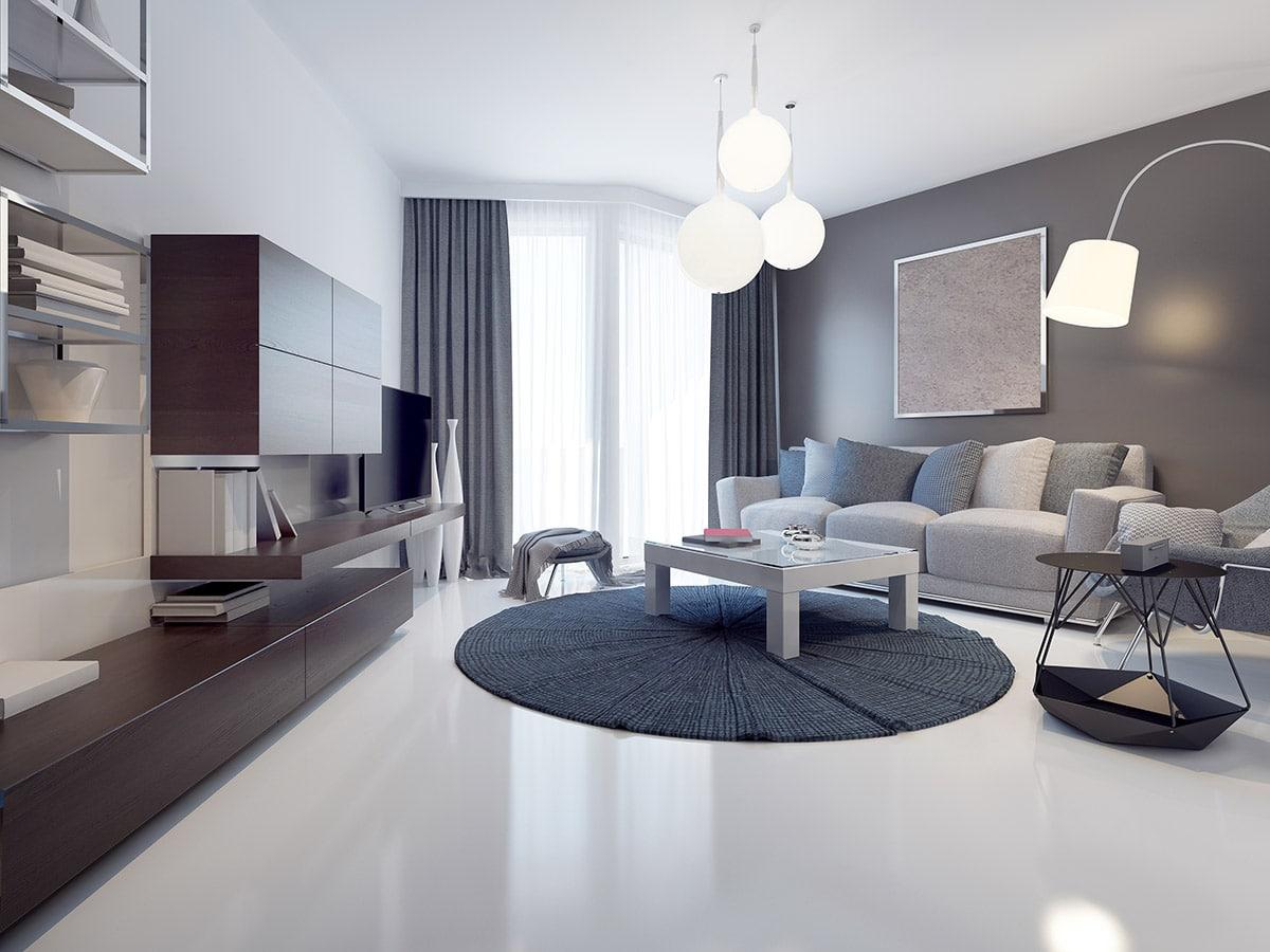 white concrete coating floor