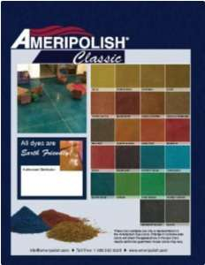 classic floor staining colors
